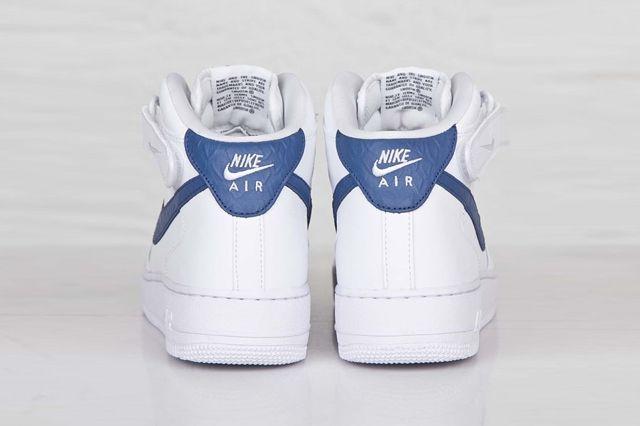 Nike Af1 Mid 07 White Blue Legend 1