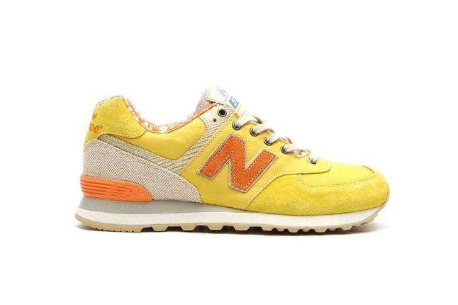 New Balance 574 Floral Hemp Pack Yellow 1