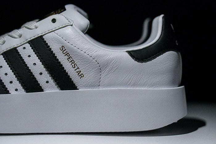 Adidas Superstar Bold White Black Womens 2
