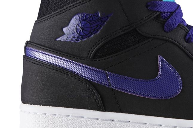 Air Jordan 1 Black Grape Swoosh 1