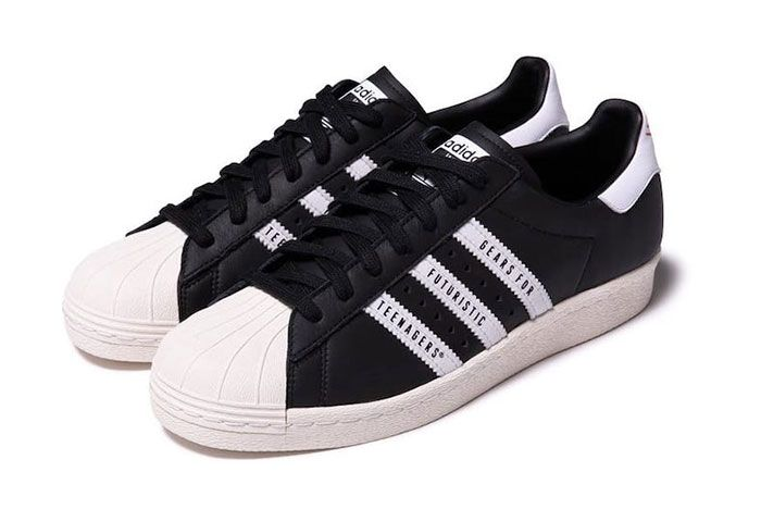 Human Made Adidas Superstar Black Front Angle