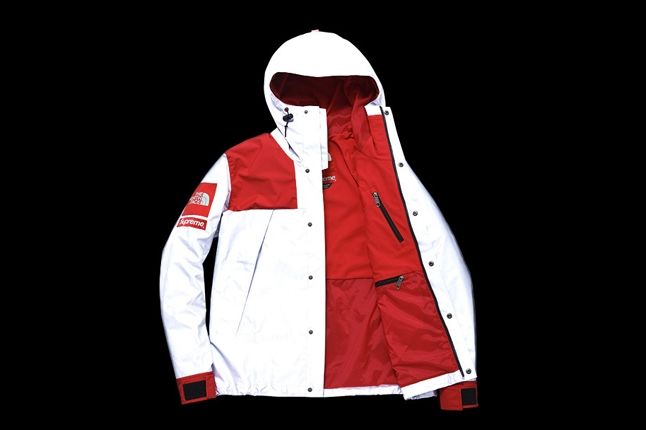 Supreme North Face 3M Collection Jacket Red Open 1