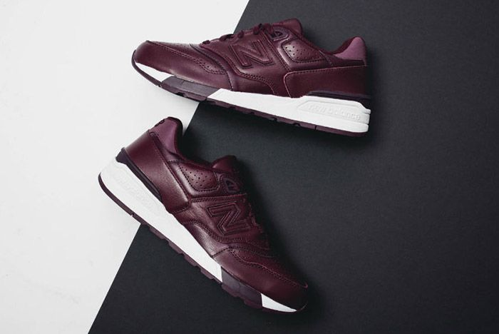 New Balance 597 Burgundy Leather 4