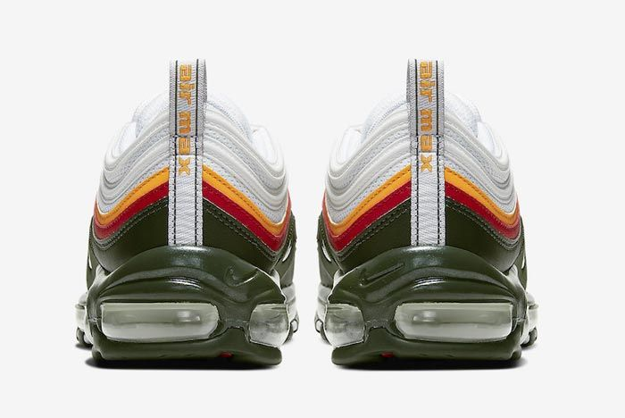 Nike Air Max 97 Dynamic Yellow Evergreen Heels
