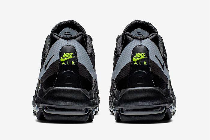 Nike Air Max 95 Ultra Black Grey Volt Heel