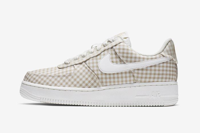 Nike Air Force 1 Gingham Pack Beige Lateral
