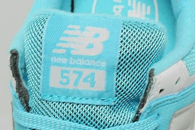 New Balance 574 Turquoise Silver White 6