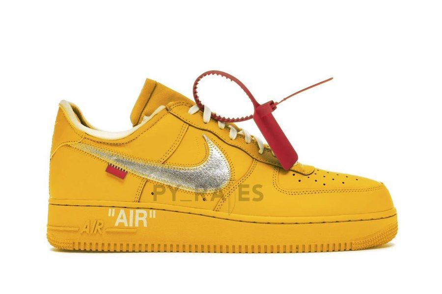 Off-White x Nike Air Force 1 University Gold Right