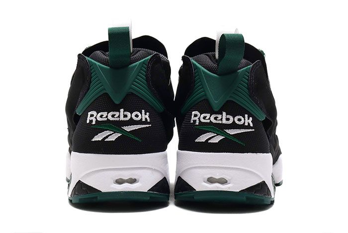 Reebok Instapump Fury 25Th Anniversary Black Green Heel