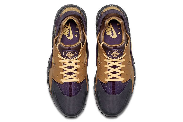 Nike Air Huarache Premium Brown Purple 2