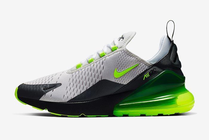 Nike Air Max 270 Platinum Tint Volt Lateral
