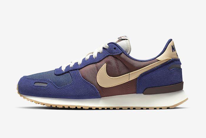 Nike Air Vortex Blue Brown Lateral