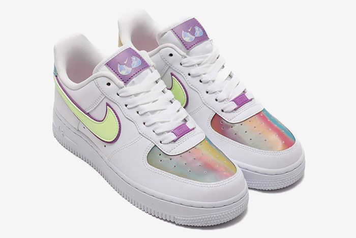 Nike Air Force 1 Easter 2020 Cw0367 100 Three Quarter Angled Side Shot