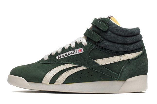 Reebok Freestylehi Vintage Green Profile 1