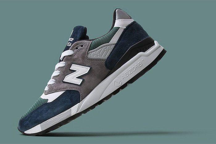 New Balance 998 Navy Green 7