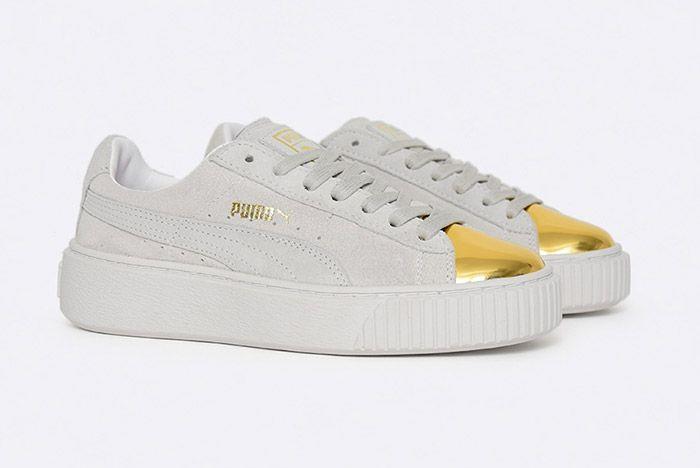 Puma Suede Platform White 1