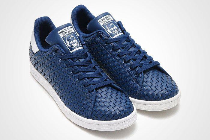 Adidas Stan Smith Woven Blue White Thumb