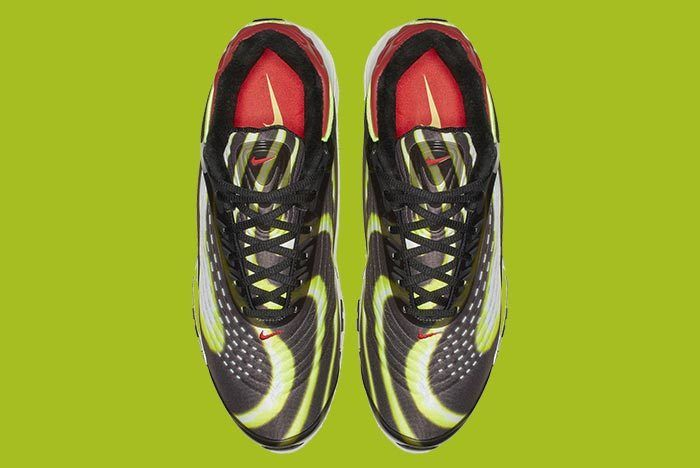 Nike Air Max Deluxe Blackvolt Habanero Red White 4