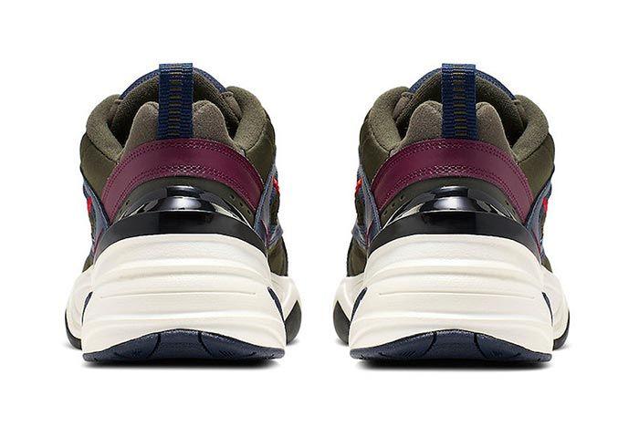 Nike M2K Tekno Bordeaux Midnight Navy Heels