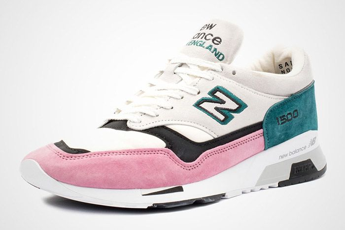 New Balance 1500 Made In England Teal Pink White Black 7