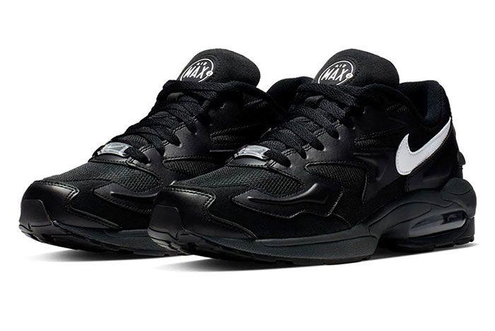 Nike Air Max 2 Light Black Ao1741 001 Front Angle Shot 5