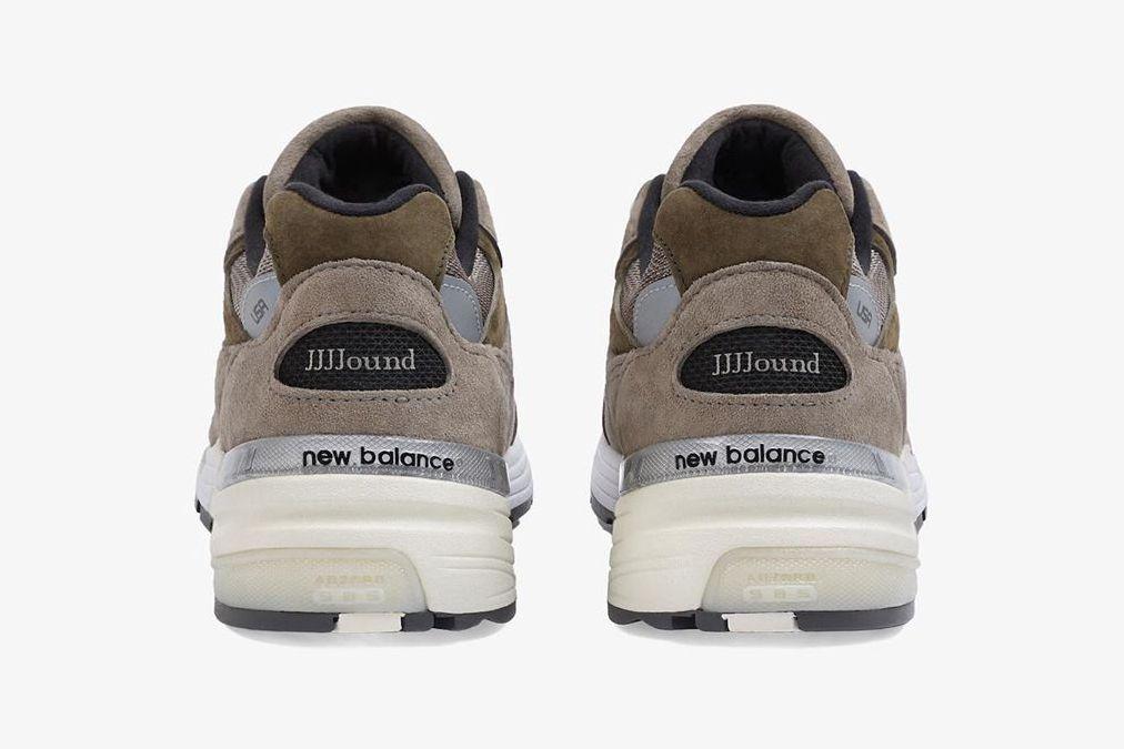 JJJJound New Balance 992 Grey Heel