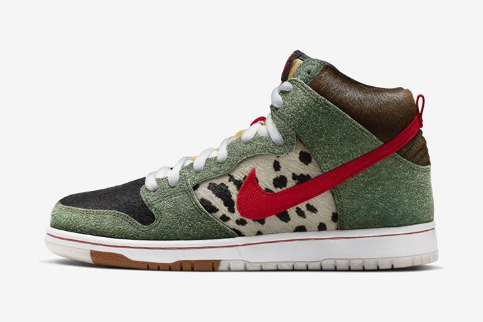 Nike Sb Dunk High Walk The Dog Bq6827 300 Release Date Lateral