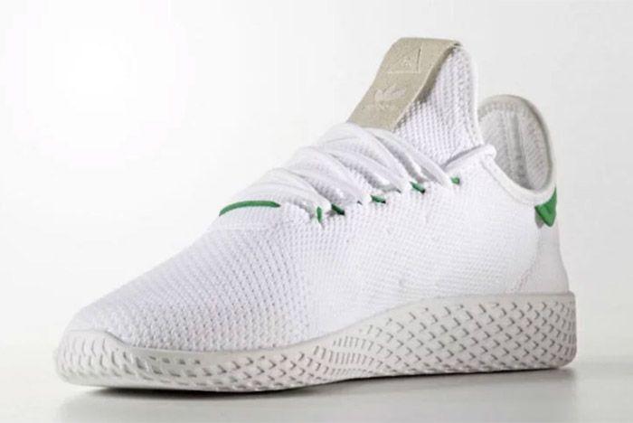 Pharrell Williams Adidas Tennis Hu White Green 2