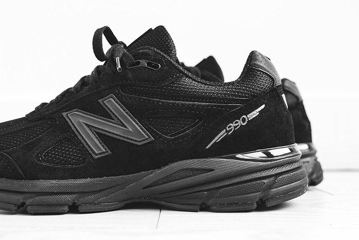 2 New Balance Kith 990 Triple Black Sneaker Freaker
