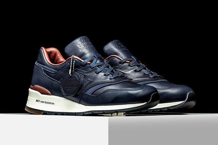 New Balance 997 Horween Leather Navy
