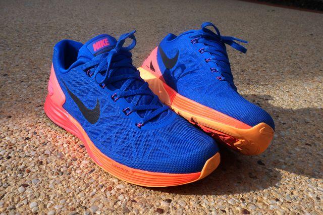 Nike Lunarglide 6 Blue Orange Yellow 7