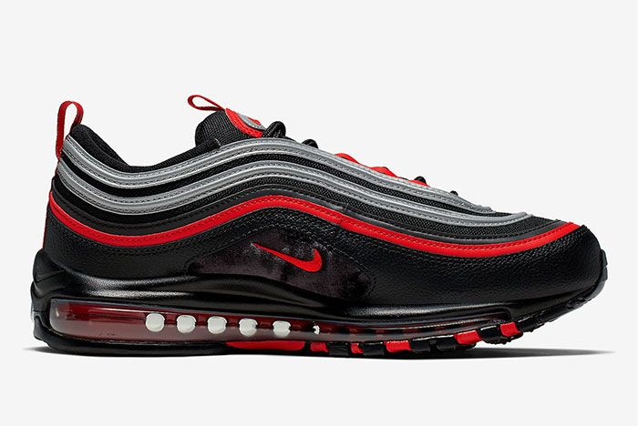 Nike Air Max 97 Black Red Silver Right