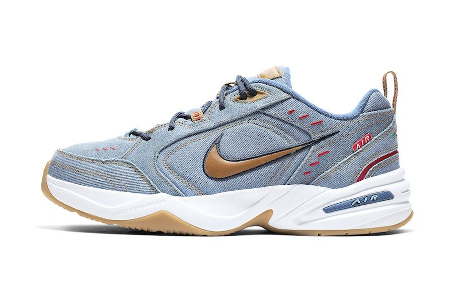 Nike Air Monarch 4 Denim Av6676 400 Release Date Lateral