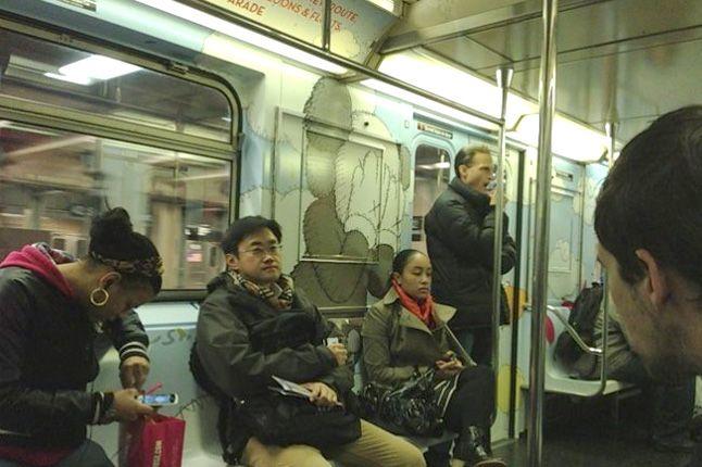 Kaws Nyc Mta Subway Inside Macys 1