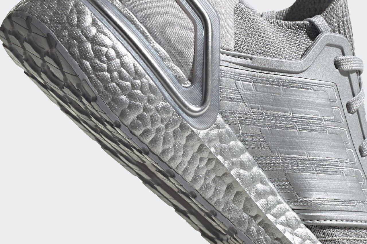 adidas UltraBOOST 20 Silver Metallic Heel