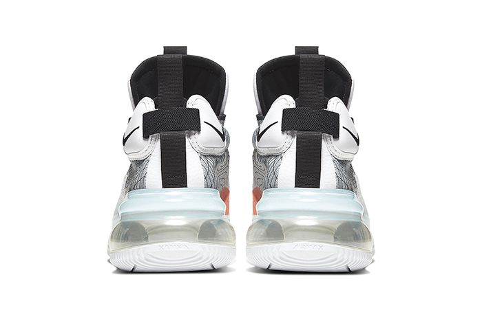 Nike Air Max 720 Waves White Black Wolf Grey Bq4430 100 Release Date Heel