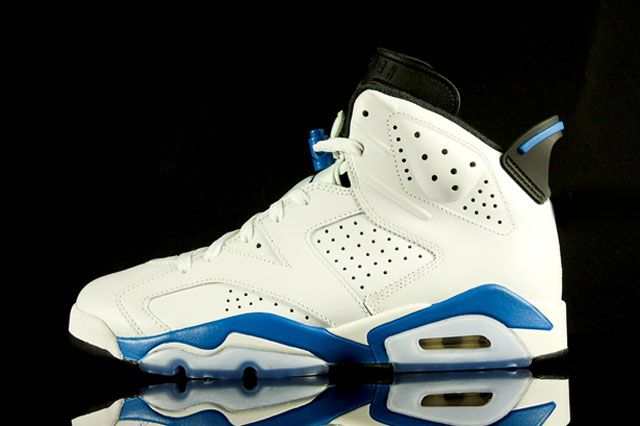Air Jordan 6 Sport Blue Sideview
