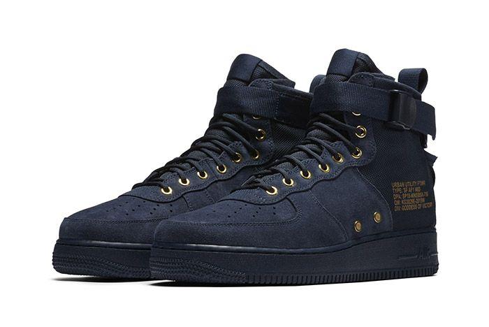 Nike Sf Air Force 1 Mid Obsidian 4
