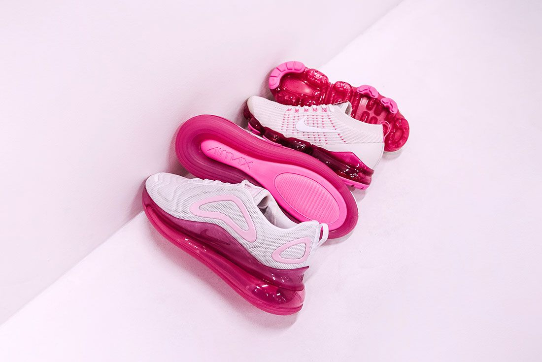 Retro Future Pack Fuchsia Pink Air Max 720 Vapormax 3 Group On Pink