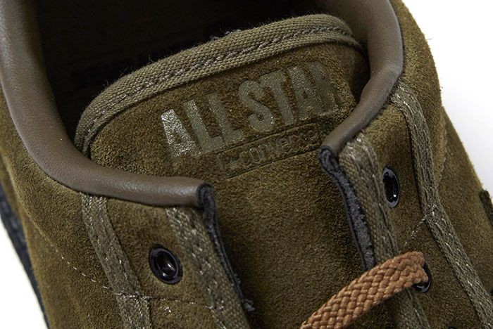 Nexusvii Converse Pro Leather Ox Olive Green Suede 5