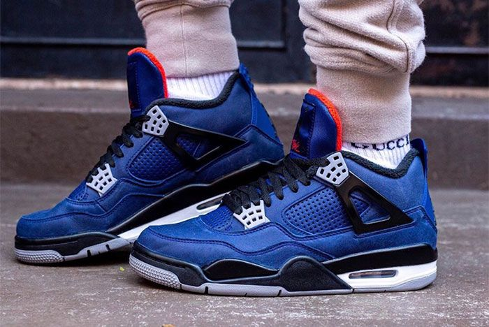 Air Jordan 4 Wntr Royal Blue Left