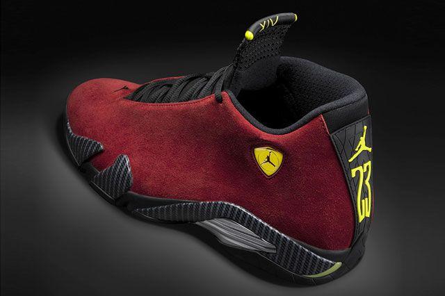 Air Jordan Xiv Red Suede Heel