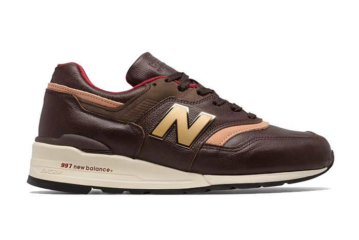 New Balance Made In Usa 997 Brown And Tan Right Side Shot