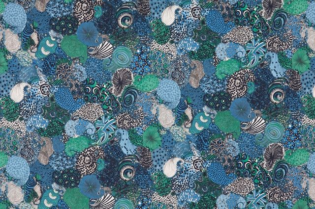 Le Coq Sportif X Liberty Art Fabrics Background Midnight Dress Blues