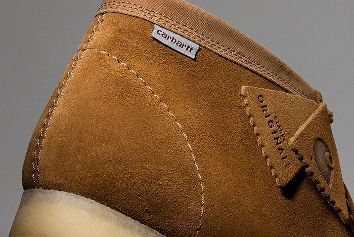 Carhartt Clarks Wallabee Brown Heel Detail