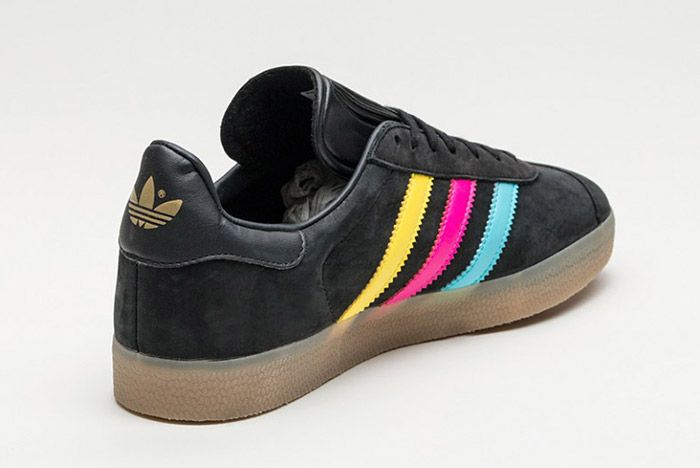 Adidas Gazelle Core Black Colour Stripe 1