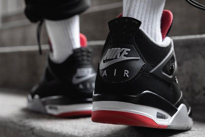 Air Jordan 4 Retro Bred Heel