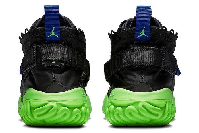 Jordan Proto React Black Green Release Heel Shot