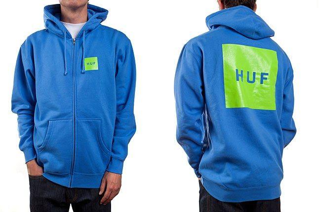 Huf Box Logo Hoodie Blue 1