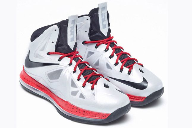 Nike Lebron X Id White Red Quater Toes 1
